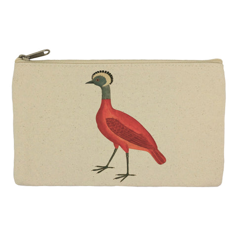Red bird pencil case