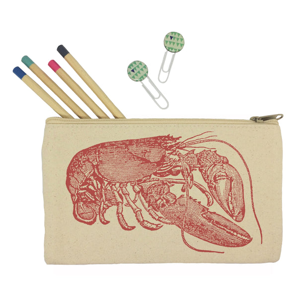 Red lobster pencil case