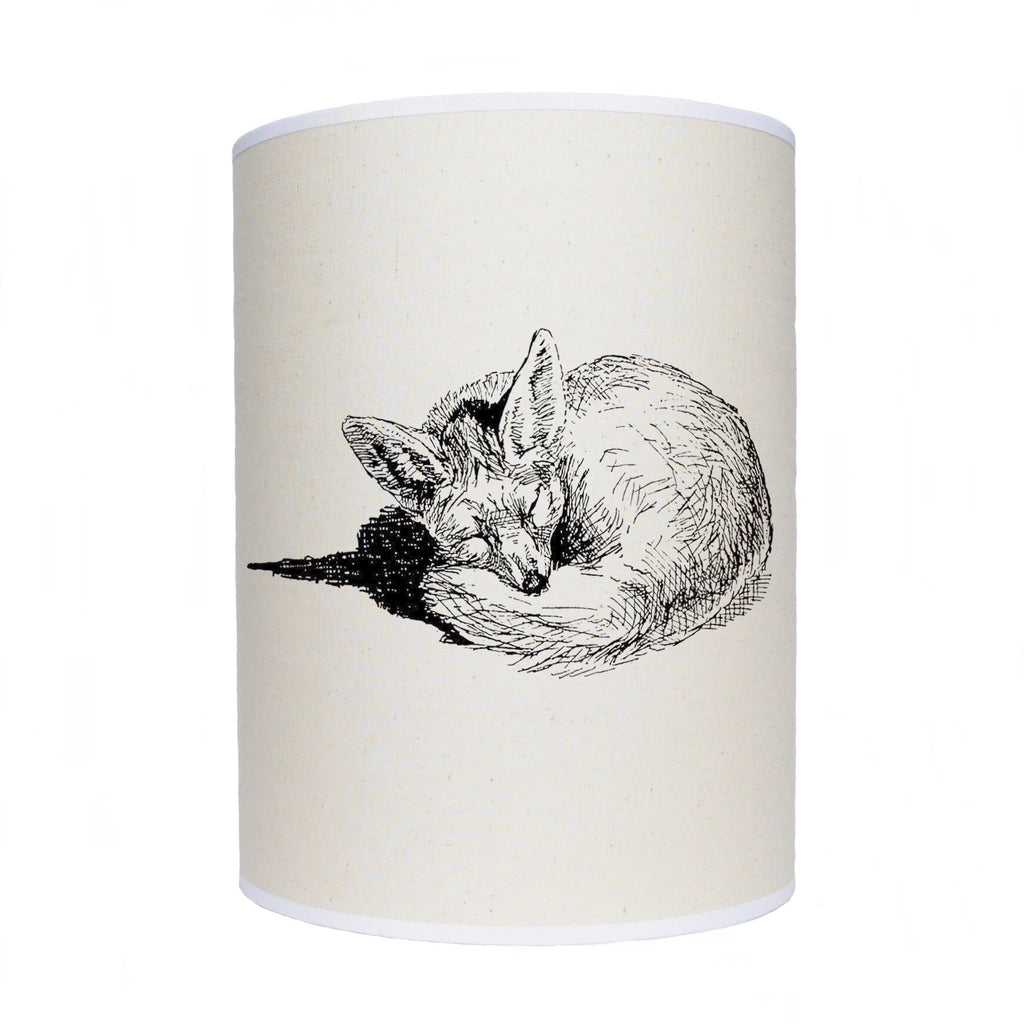 Sleeping fox lamp shade/ ceiling shade