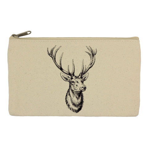Stag head pencil case