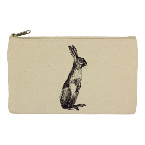 Standing hare pencil case