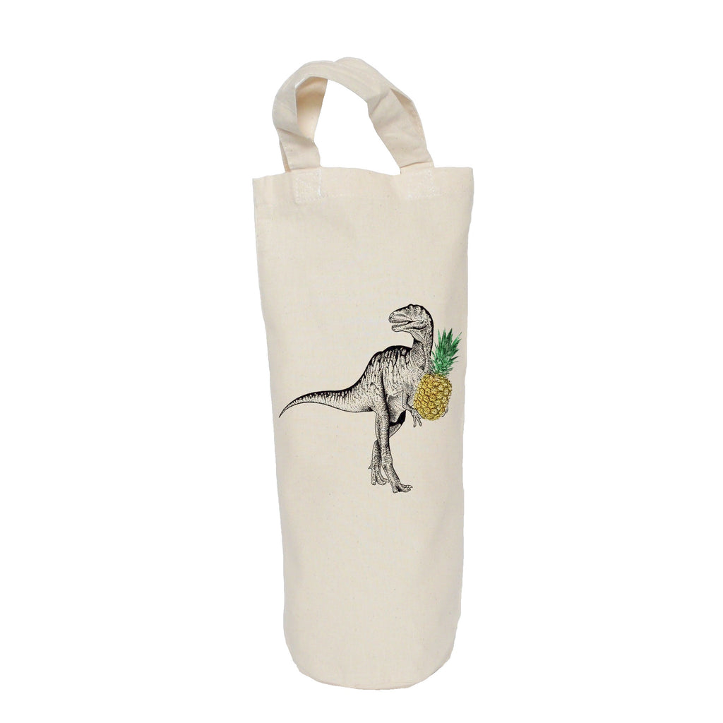 Dinosaur with pineapple bottle bag