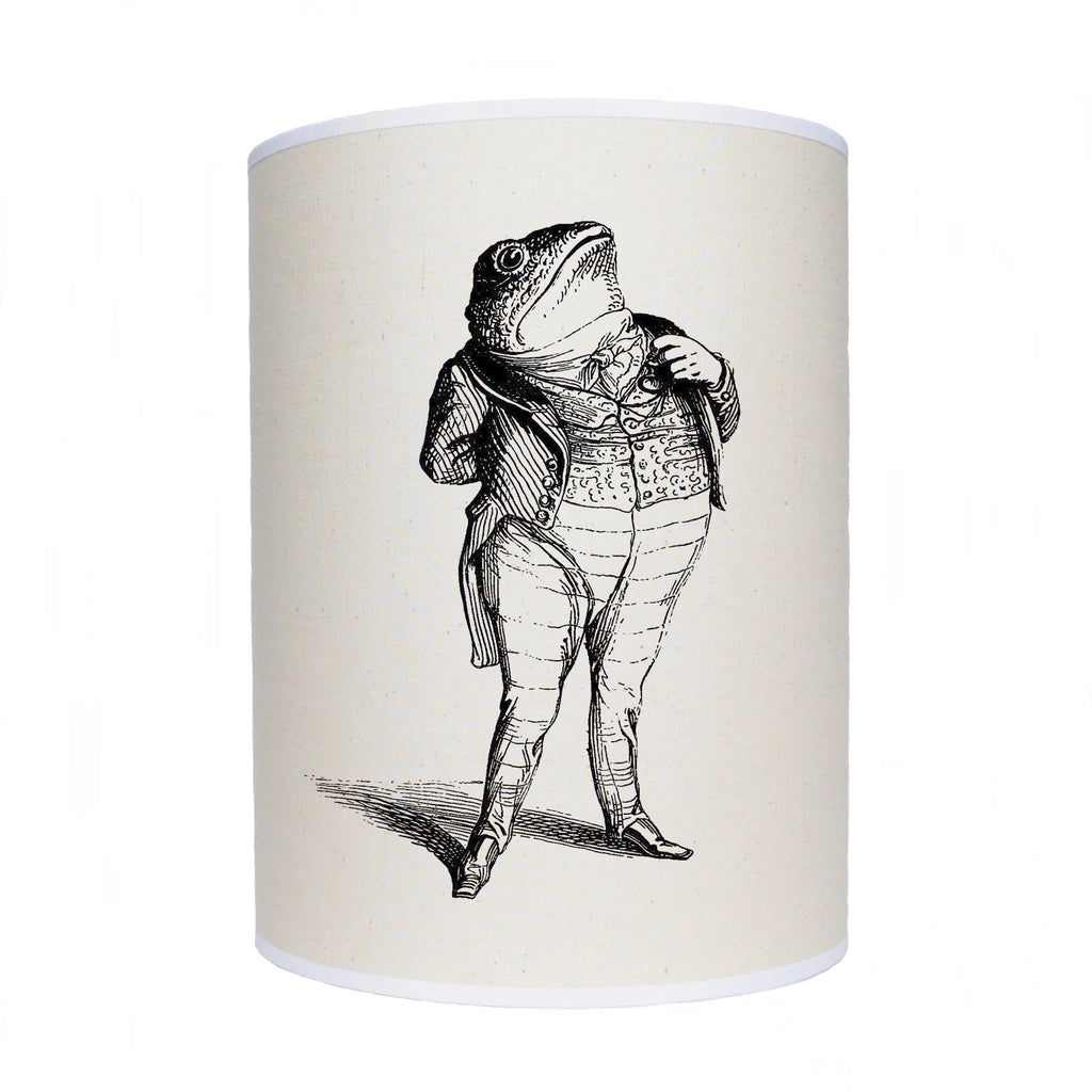 Toad in a suit lamp shade/ ceiling shade