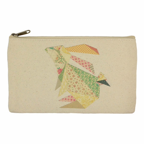 Triangle rabbit pencil case