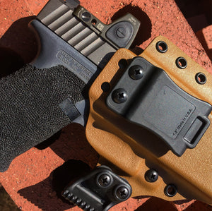 Glock Holster make from Kydex and steel screws