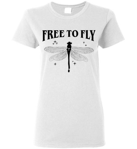 FREE TO FLY WOMEN'S WHITE T-SHIRT AT WWW.VINTAGESTYLETEES.COM