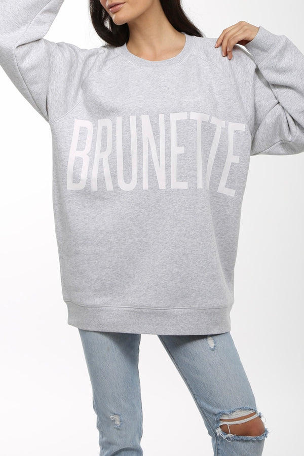 Brunette The Label The Brunette Big Sister Crew Neck Sweatshirt