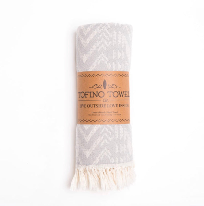 Tofino Towel, Light Weight, Towel, Luxury, Home, Throw, blanket, the reef, cotton, grey, fossil