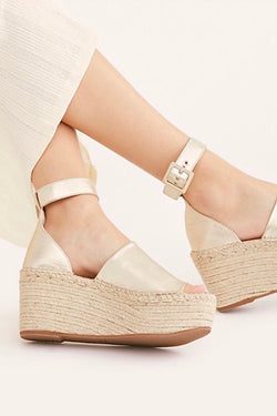 Free People Coastal Platform Wedge Sandal