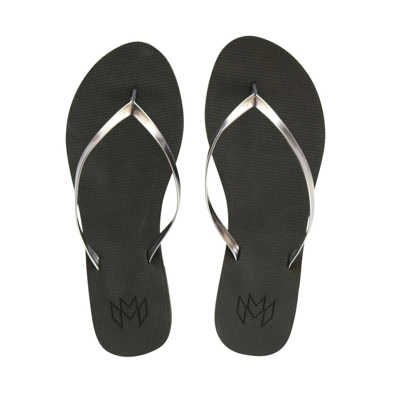 Malvados, comfortable, vegan leather, flip flop, raven