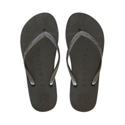 Malvados, playa, comfortable, supportive, toe, pillow, cushion, flip flop, onyx