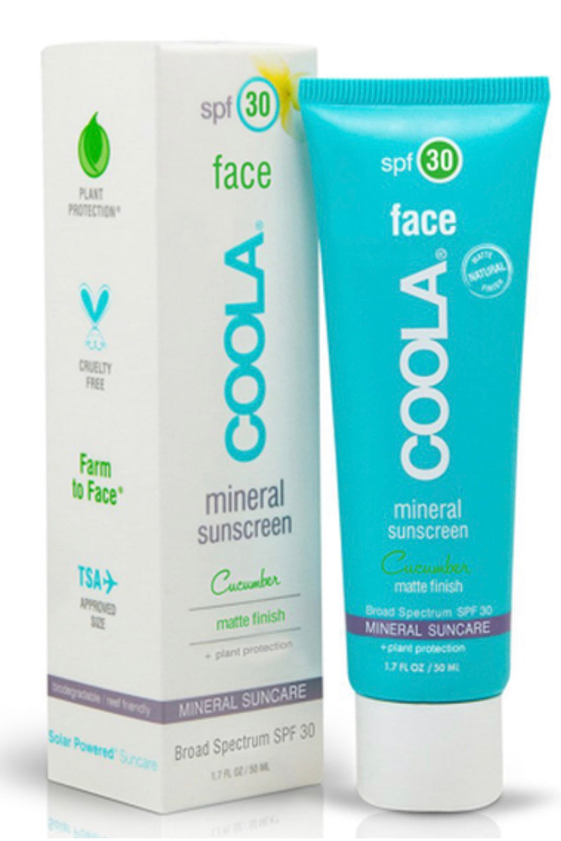 Coola Mineral Face SPF 30 Matte Cucumber Lotion