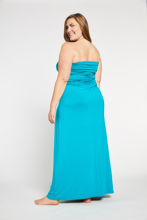 Aqua Bay Swim Co, aqua maxi dress, convertible maxi dress, strapless maxi dress canada, maxi skirt, bamboo womens clothing canada