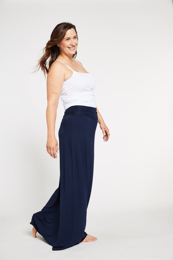 Aqua Bay Swim Co, navy maxi dress, convertible maxi dress, strapless maxi dress canada, maxi skirt, bamboo womens clothing