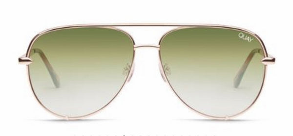 Quay Australia, quality, stylish, chic, Sunglasses, high key, aviator, rose, green