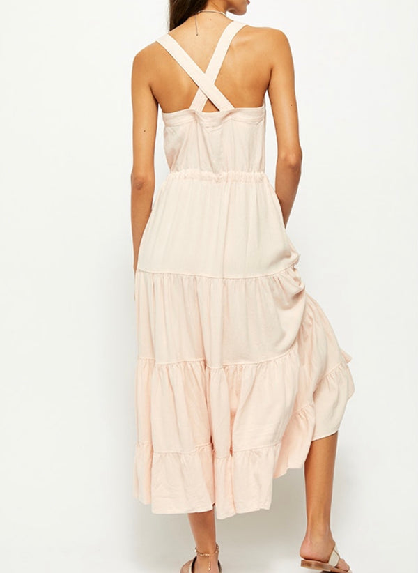 Free People Catch the Breeze Midi Dress