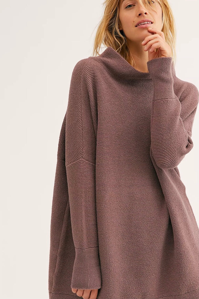 Free People Slouchy Ottoman Tunic Sweater