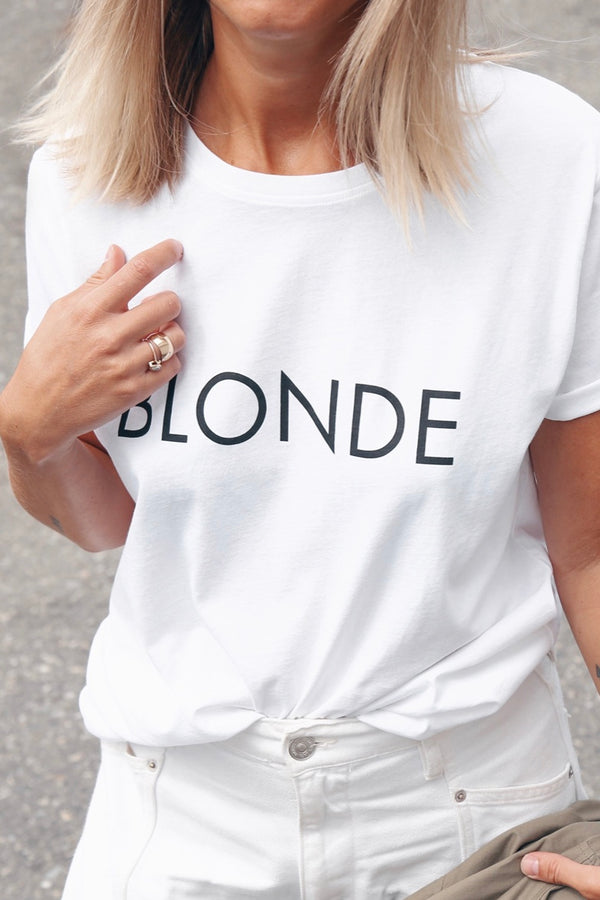 Brunette the label | white| blonde| t-shirt|