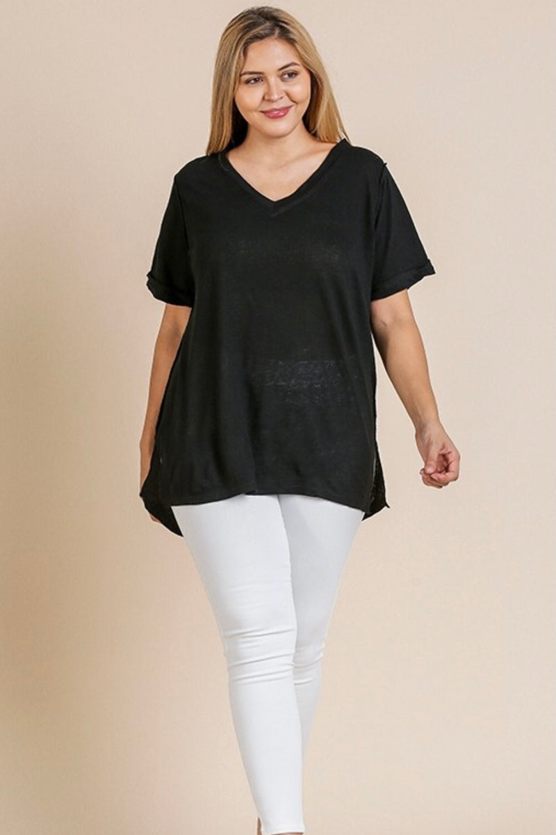 Linen| v-neck| t-shirt| tunic| top|
