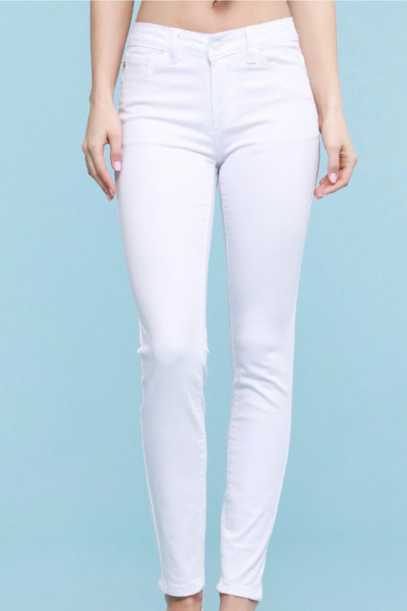 White|Midrise|skinny|jeans|