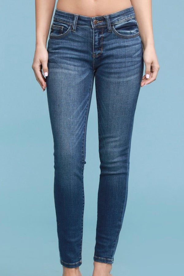 Abby Mid-rise Handsand Skinny Jeans