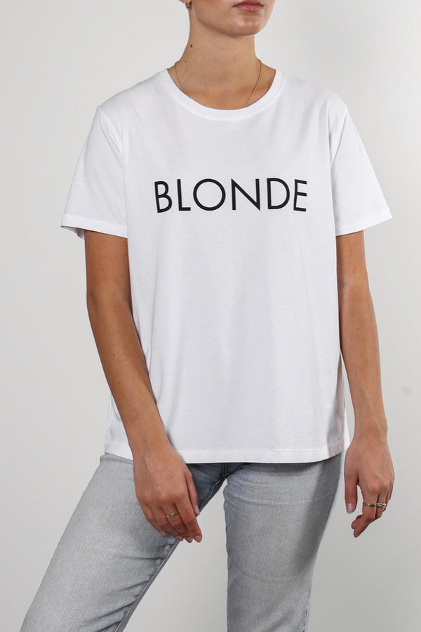 "Brunette The Label Classic Crew Neck ""Blonde"" Tee"