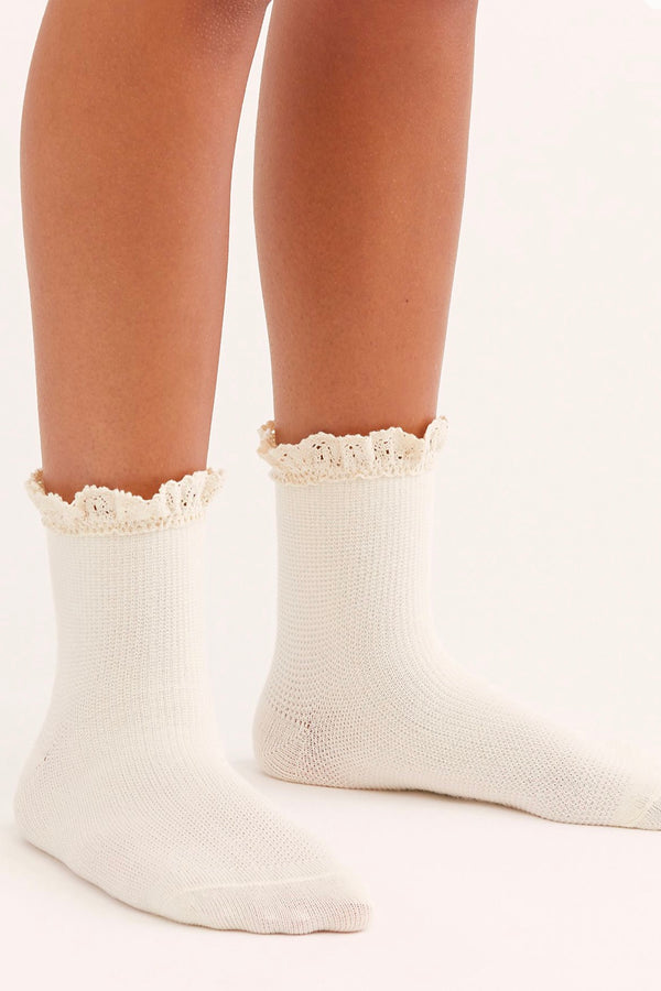 Free people| beloved| ankle| sock| cream|