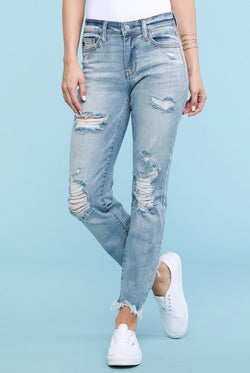 Tommy Distressed Boyfriend Jeans