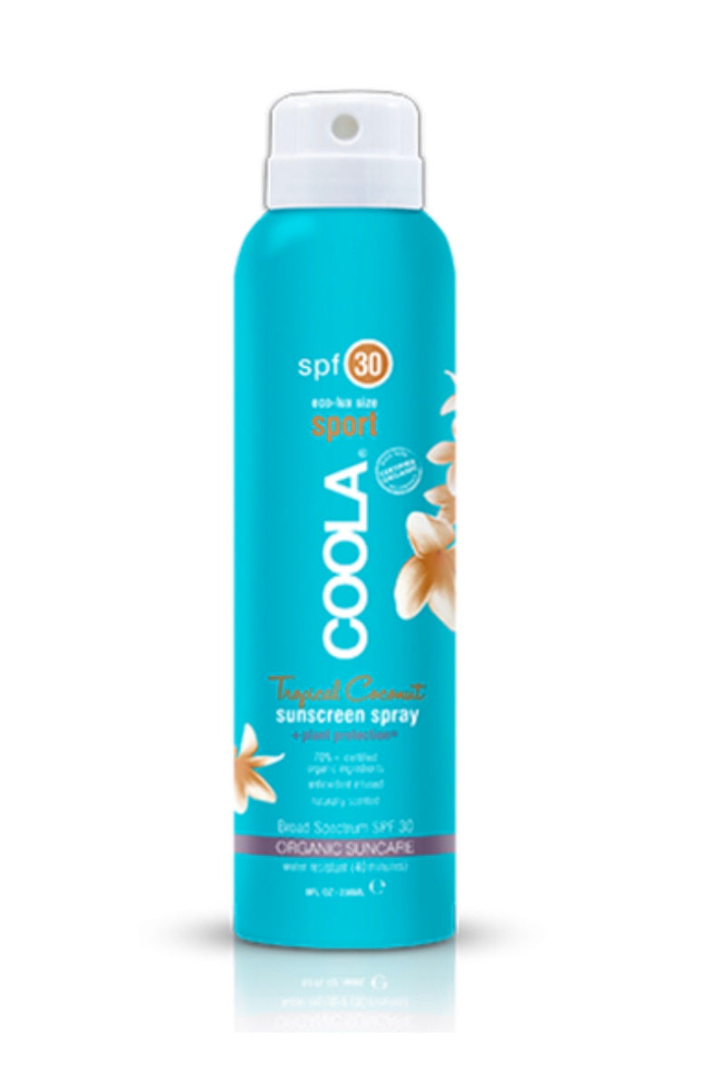 Coola Body SPF 30 Tropical Coconut Organic Sunscreen Spray