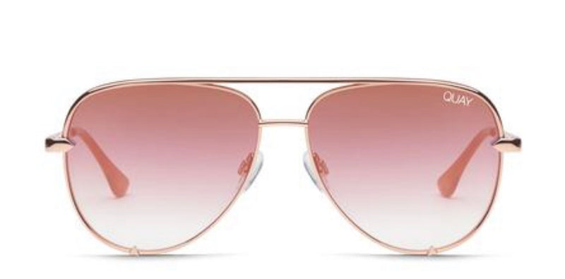 Quay Australia, quality, stylish, chic, Sunglasses, high key, aviator, rose, copper