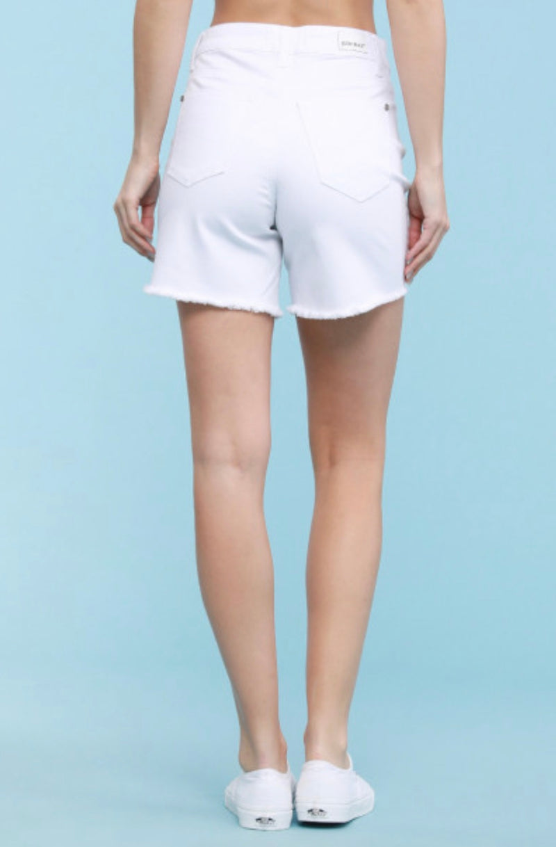 Dixie White Cutoff Denim Shorts