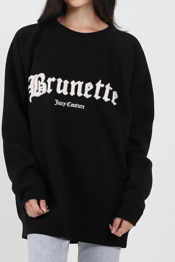 Brunette The Label X Juicy Couture Brunette Big Sister Crew Neck Sweatshirt