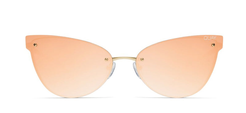 Quay Australia, quality, stylish, chic, Sunglasses, lady Luck, frameless, cat eye, gold