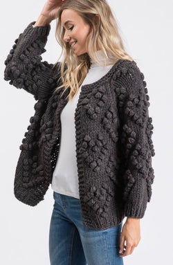 Sweet Heart Pom Pom Cardigan