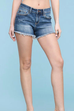 Barbie Distressed Cutoff Denim Shorts