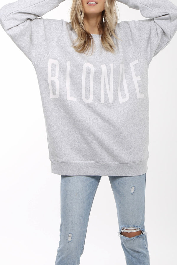 Brunette The Label The Blonde Big Sister Crew Neck Sweatshirt