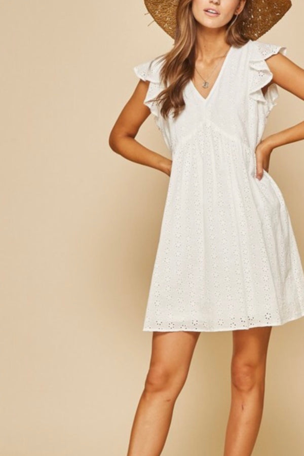 Annie Cotton Eyelet Baby Doll Dress