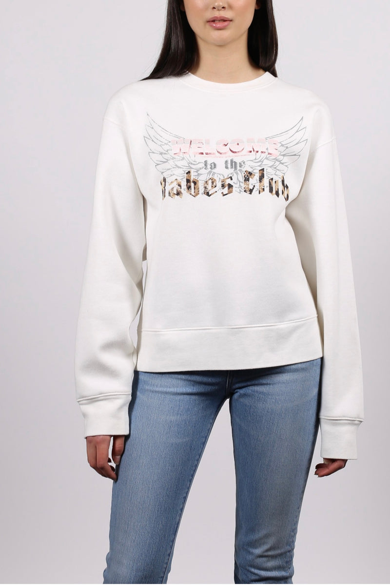 Brunette the label| marshmallow| babes club| 1981 collection| Crew neck| sweatshirt