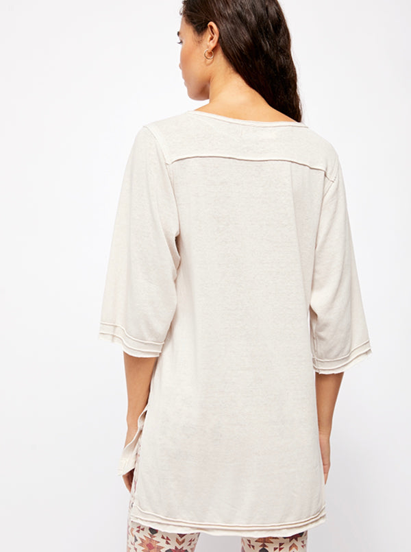 Free People|Neutral|beige|oversized|henly|tshirt