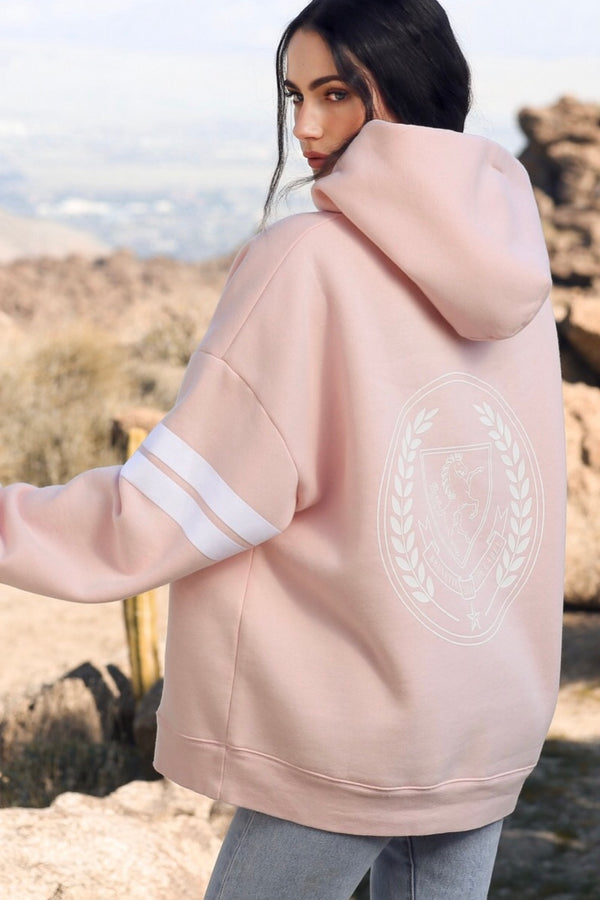 Brunette The Label Equestrian Crest Big Sister Hoodie