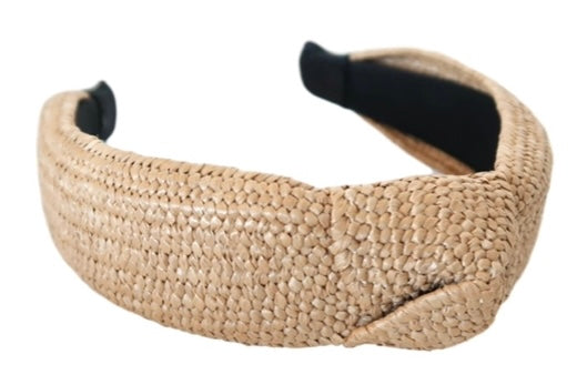 Raffia| headband| neutral|