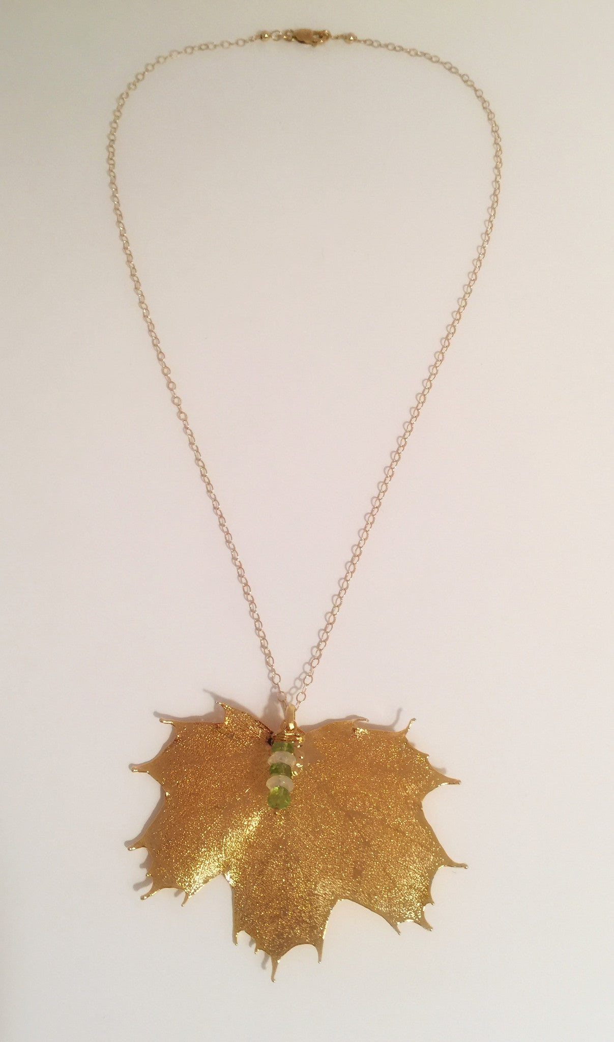 madelyn pendant pendants maple product leaf necklace