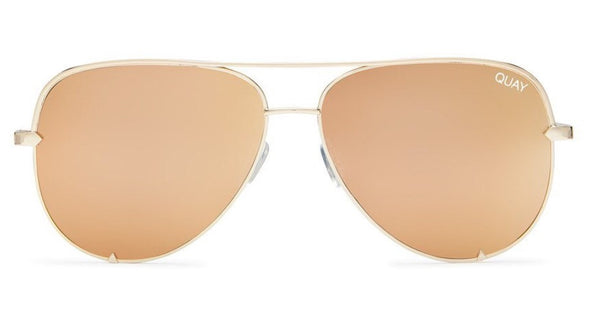 Quay Australia, quality, stylish, chic, Sunglasses, high key, aviator, gold