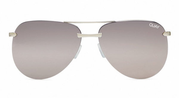 Quay Australia, quality, stylish, chic, Sunglasses, playa, frameless, aviator, silver