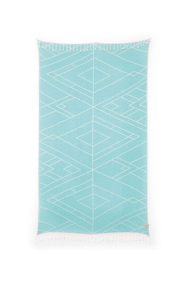 Tofino Towel, Light Weight, Towel, Luxury, Home, Throw, blanket, The Clayoquot, bamboo, cotton, turquiose, saphire