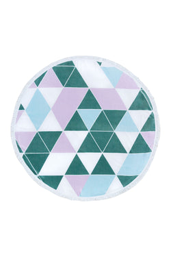 Tofino Towel, The Original round towel, cotton, The kennedy, blue, green, white, lilac