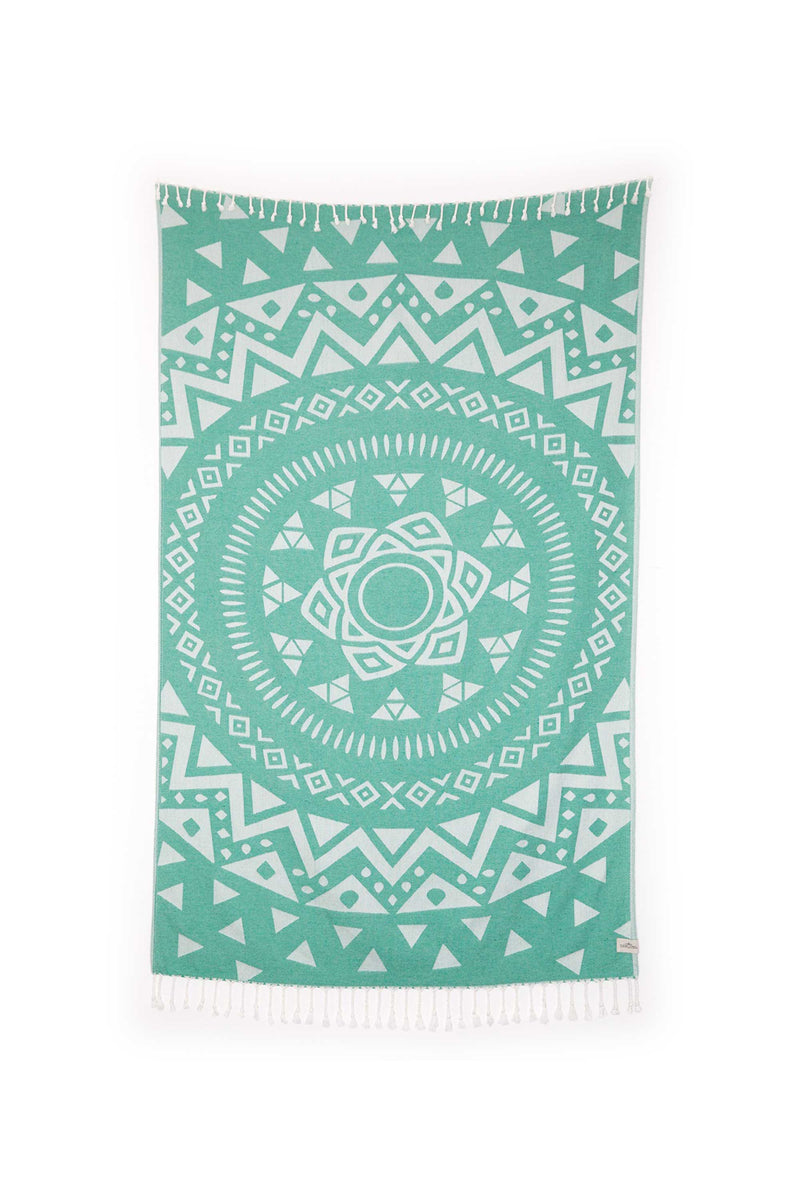 Tofino Towel, Light Weight, Towel, Luxury, Home, Throw, blanket, the radar, bamboo, cotton, turquoise, green