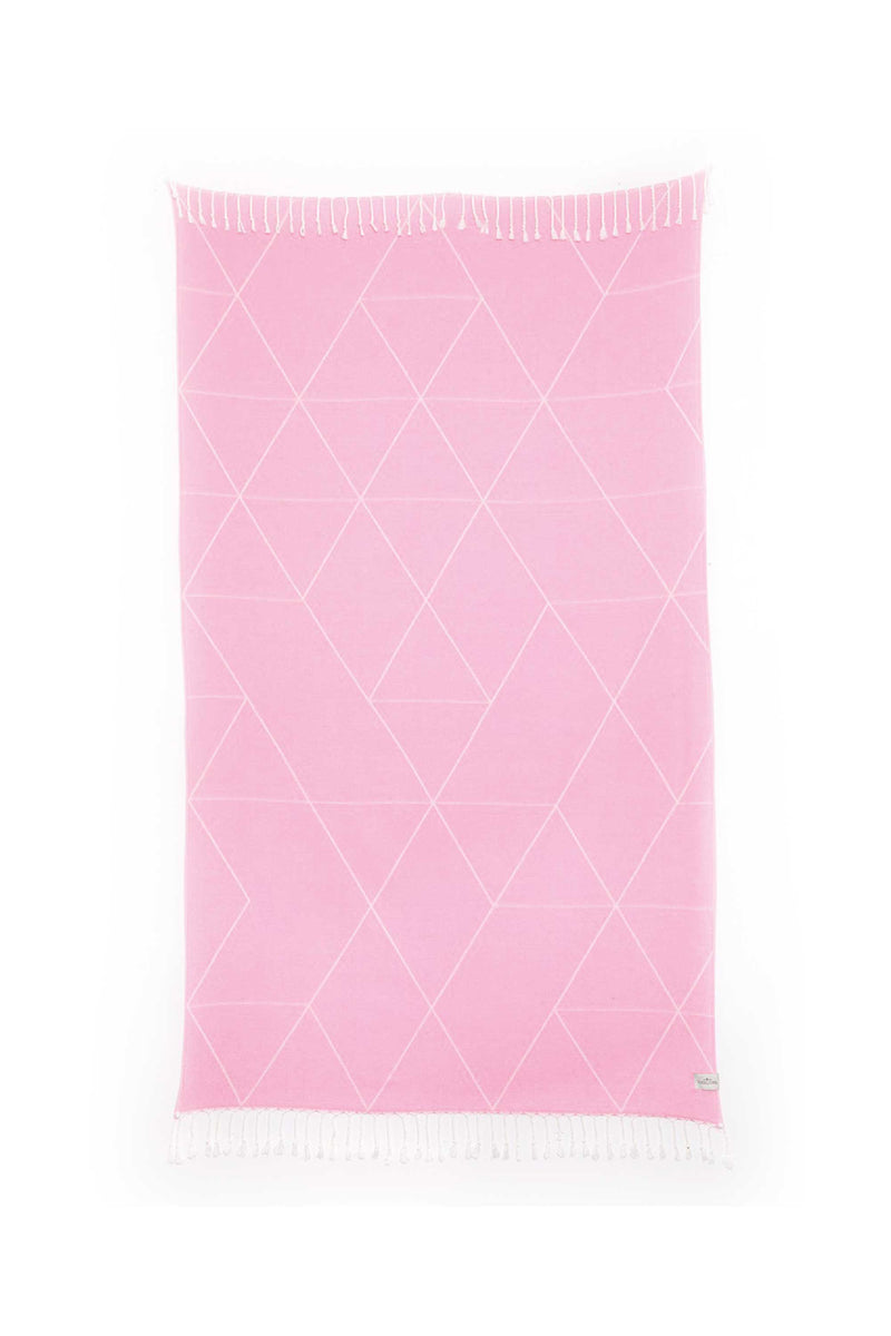 Tofino Towel, Light Weight Towel, pink turkish towels canada, throws canada, the vargas tofino towel, pink beach towel