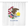 Illinois State Flag Shower Curtain