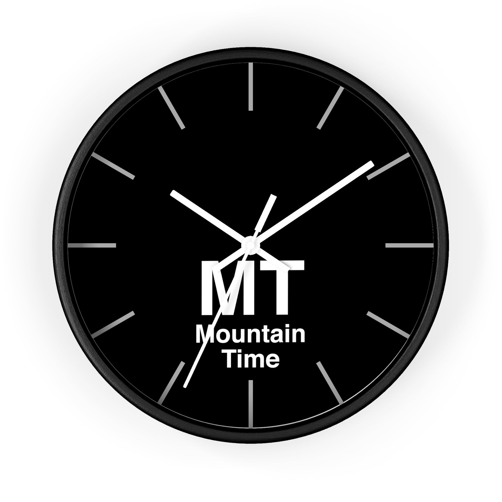 Mountain Time Zone Wall Clock Old School States Of America